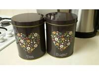 Home Storage - Sugar and Tea Caddie