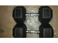 Brand new Pair 22Kg Dumbbells
