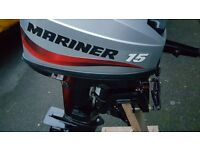 Mariner Short Shaft, TWO stroke 15 hp outboard with SEPARATE gear shift Forward