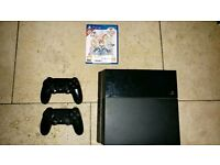 PS4 (500gb) with game and 2 controllers