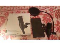 Audio-Technica AT2020 Condenser Mic with Pop Sheild