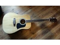 Aria AW-20N acoustic guitar with everything you need to start playing!