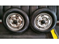 Ford Transit 2 x wheel rims + 2 x tyres 195 70 15 C