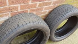 2 x Goodyear Excellence RunFlat Tyres 245/45 R18 96Y 6mm of tread