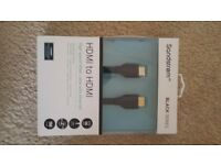 Sandstorm, Black Series, HDMI to HDMI, 1 M cable
