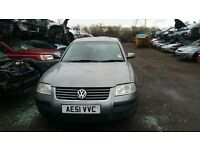 2001 VOLKSWAGEN PASSAT S (MANUAL PETROL- FOR PARTS ONLY