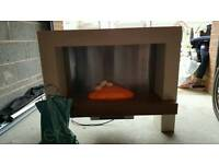 Free standing electric fire place