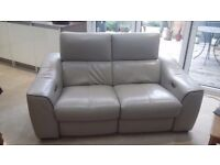 Leather electric recliner sofa and armchair