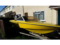17 ft fletcher speedboat