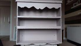 Shabby chic shelving cabinet