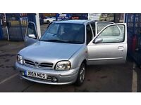 2001 x reg nissan micra 1.0 lit 5 door hatch back