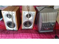 Mp3 stereo cd player with cassette player. Good condition call today fantastic price