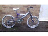 """GIRLS MALIBU BICYCLE MOUNTAIN BIKE 12"""" 5 GEAR AGE 7-10"""