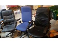 3 large office chairs £20 each