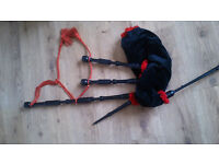 Dunbar Poly Bagpipes with case
