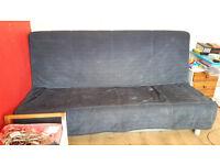Ikea metal frame 3 seater sofa bed