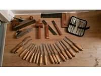 Carpenters Tools kit set - Carpentry wood work carving craft