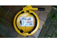 "Thatcham secure ""Disklok""size small (to fit steering wheels up to 39cm diameter)"
