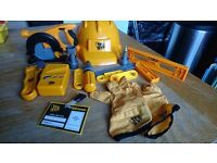 JCB kids tool set bundle with tools and accessories