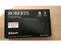 Roberts Travel Pad Bluetooth Speaker with Built In Rechargeable Battery