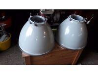Vintage Industrial lighting x 2
