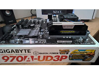 AMD BUNDLE - AMD FX6300 CPU + Gigabyte 970A UD3P Motherboard + 8GB Corsair Vengence 1866MHZ RAM
