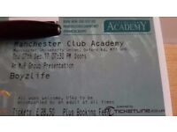 Boyzlife tickets - Manchester 7th Dec 17 - Less than face value