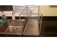 Large sink side dish rack dryer