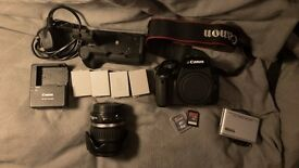 Canon 550D with 18-55mm Kit Lens & Accessories