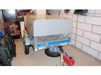 New larger Erde trailer + extension kit/spare wheel/hitch lock
