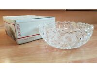 Vintage Bohemia Crystal bowl 21.5 cm - made in Czechoslovakia - new in box