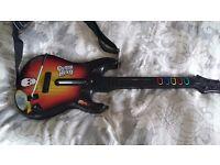 Xbox 360 Guitar Hero guitar