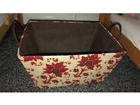 Red floral hamper basket