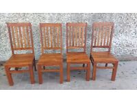 4 x Dining Room Chairs - Very sturdy and well made