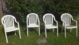 White Garden Chairs x4 Very Good Quality. Waterlooville
