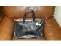 Large Radley black leather handbag