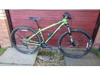 Genesis High latitude 16 inch 29er mountain bike with Fox forks