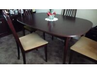 Dining table and 4 chairs - new low price for quick sale