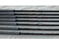 CALLAWAY RAZR X TOUR graphite stiff shafts 4-pw