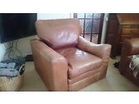 Brown leather arm chair - free