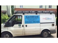 Window cleaning van and system