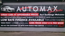 AUTOMAX..FREE MOTS FOR LIFE, 12 MONTH WARRANTIES, HPI CHECKED, LOW RATE FINANCE, HASSLE FREE SERVICE