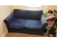 Blue Sofa Bed, Double Size