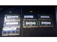 Various Laptop ram - DDR2 AND DDR3