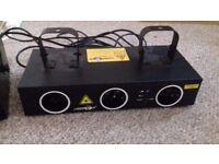 Laser light and fog machine