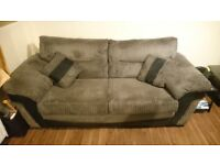 Sofas and matching footstool