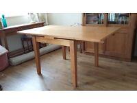 oak and vaneer dining table