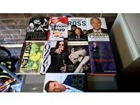 9 hardback autobiographies, entertainment