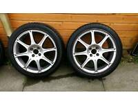 """17"""" Alloy wheels and tyres 4x100"""