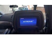 """XTRONS 7"""" Car Headrest Pillow DVD Player Digital Screen Monitor Game USB Beige"""